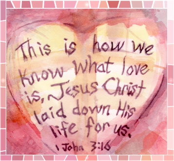 1 John 3_16 Heart Watercolor