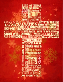 bigstock-Christmas-Cross-bright-Christ-25582868