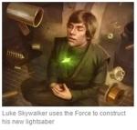 Luke with Lightsaber